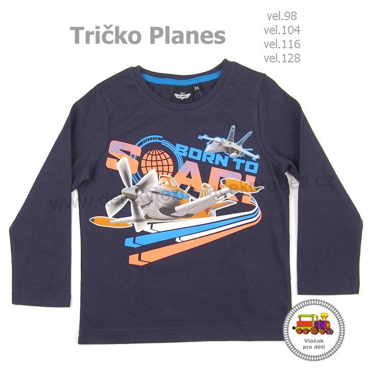 Tričko chlapecké Planes - Letadla NH1293 tmavě modré vel. 98 (skutečná  92-98) e9170e1bdb