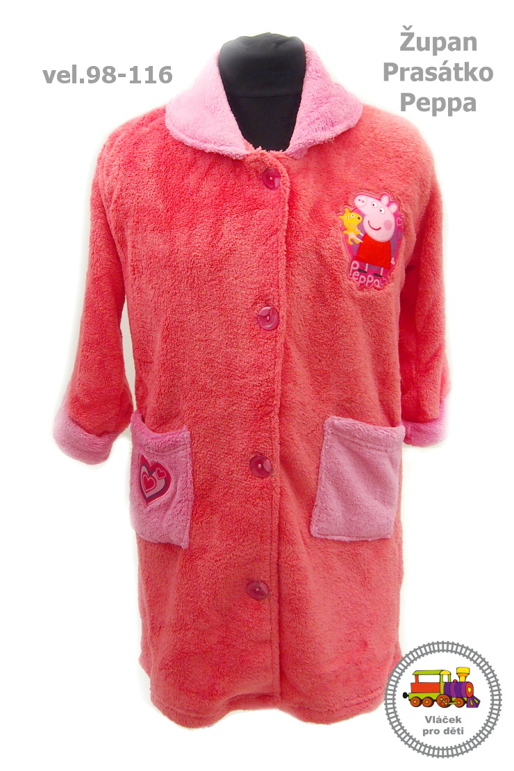 a53026637a3 Dívčí župan Prasátko Peppa Pig 840-026 jahodovo-růžový vel.110