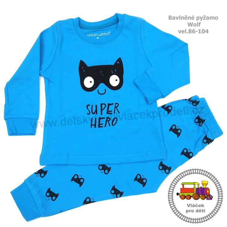 3fe9350236d Chlapecké pyžamo Wolf S2766 modré vel. 86
