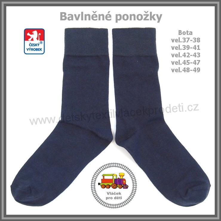 aa2d4875fa6 Ponožky bavlněné tmavě šedá   4  Petr vel.boty 45-47