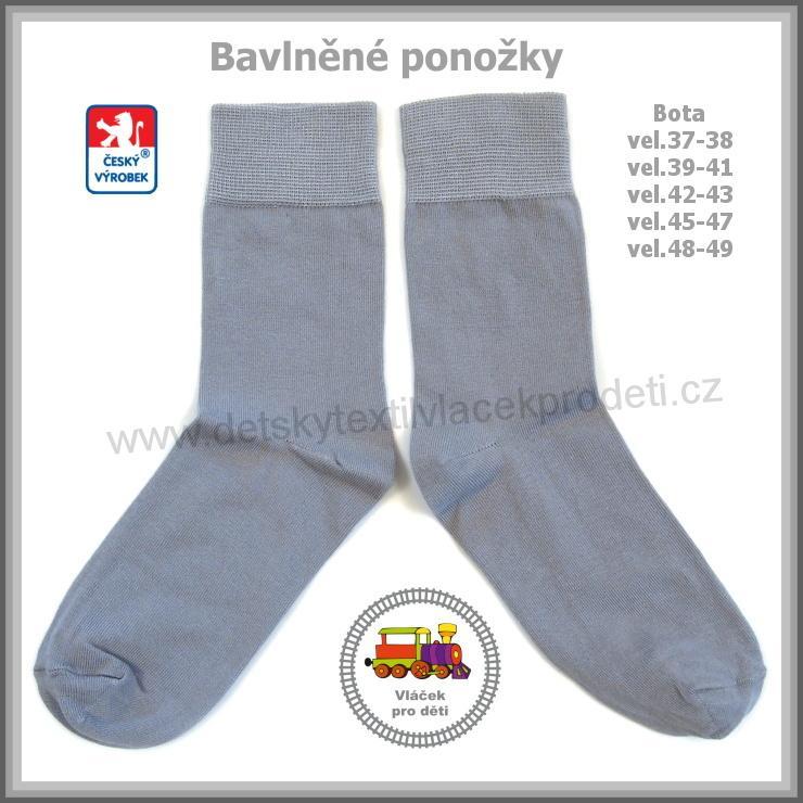 45fb2b13762 Ponožky bavlněné světle šedá   3  Petr vel.boty 45-47
