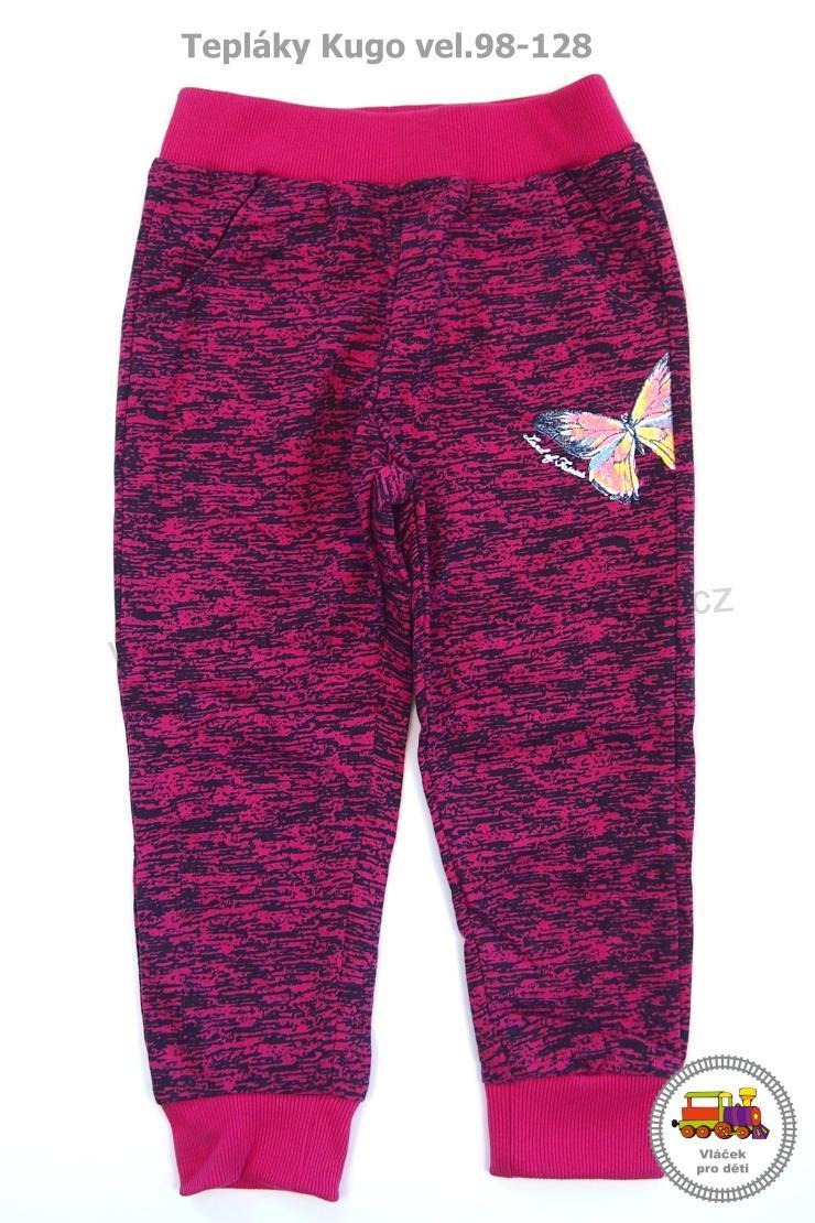 Dívčí tepláky Kugo Y-9001 růžové vel.116  af78608abc