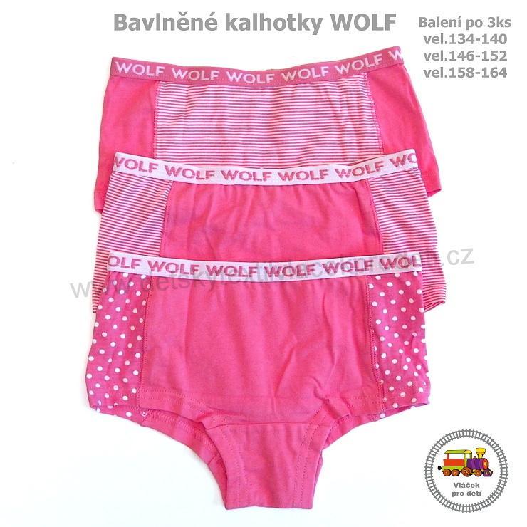 7bcfc7cadb7 Dívčí kalhotky Wolf L2464 růžový mix 3 kusů vel.146-152