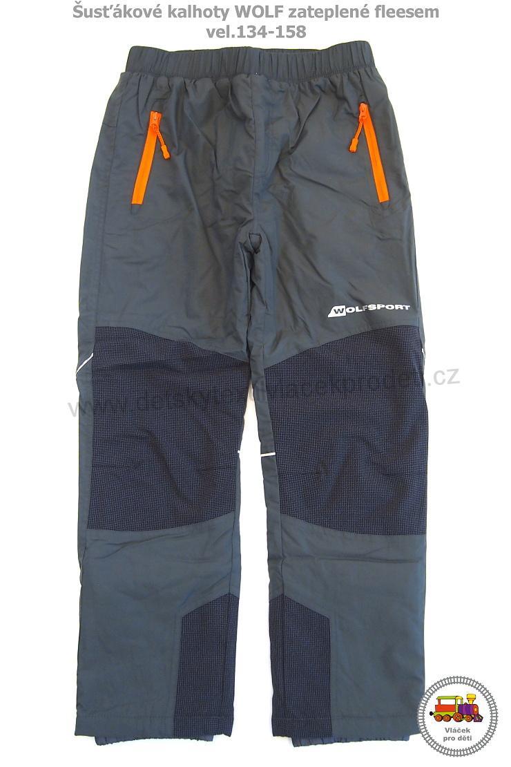 14f52caa8e2 Kalhoty šusťákové zateplené Wolf B2873 šedé vel.140