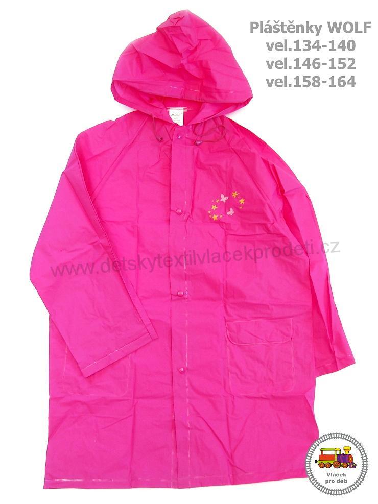 adc0d7a396c Dětská pláštěnka růžová Wolf vel.134-140
