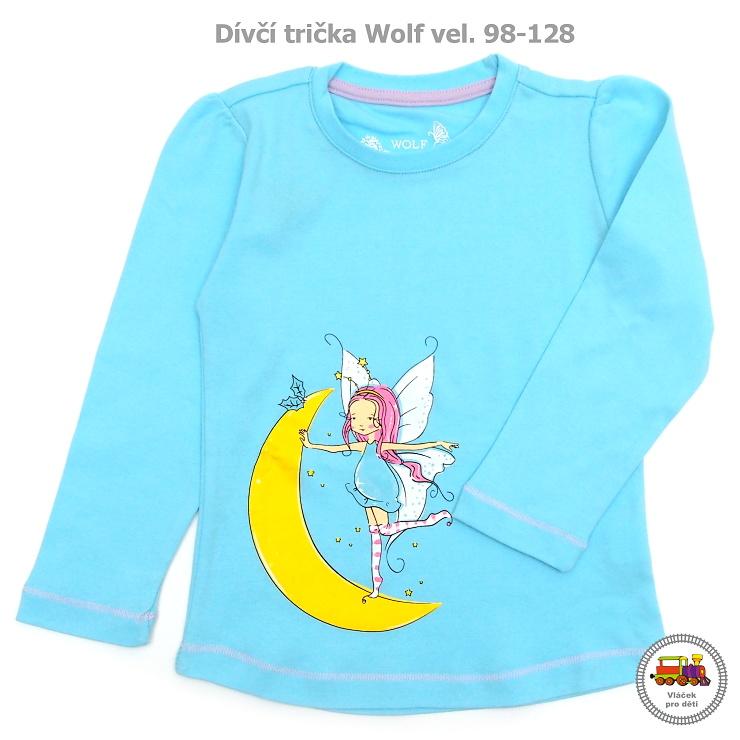 Tričko dívčí Wolf dlouhý rukáv S2744 modré vel.122 empty 87de90af7d