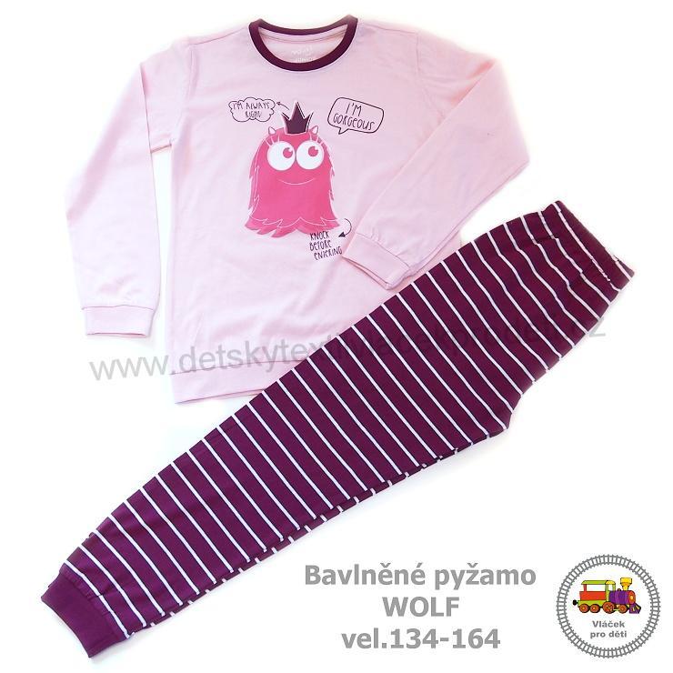 f245d5bfa91 Dívčí pyžamo Wolf S2853 růžové vel.152