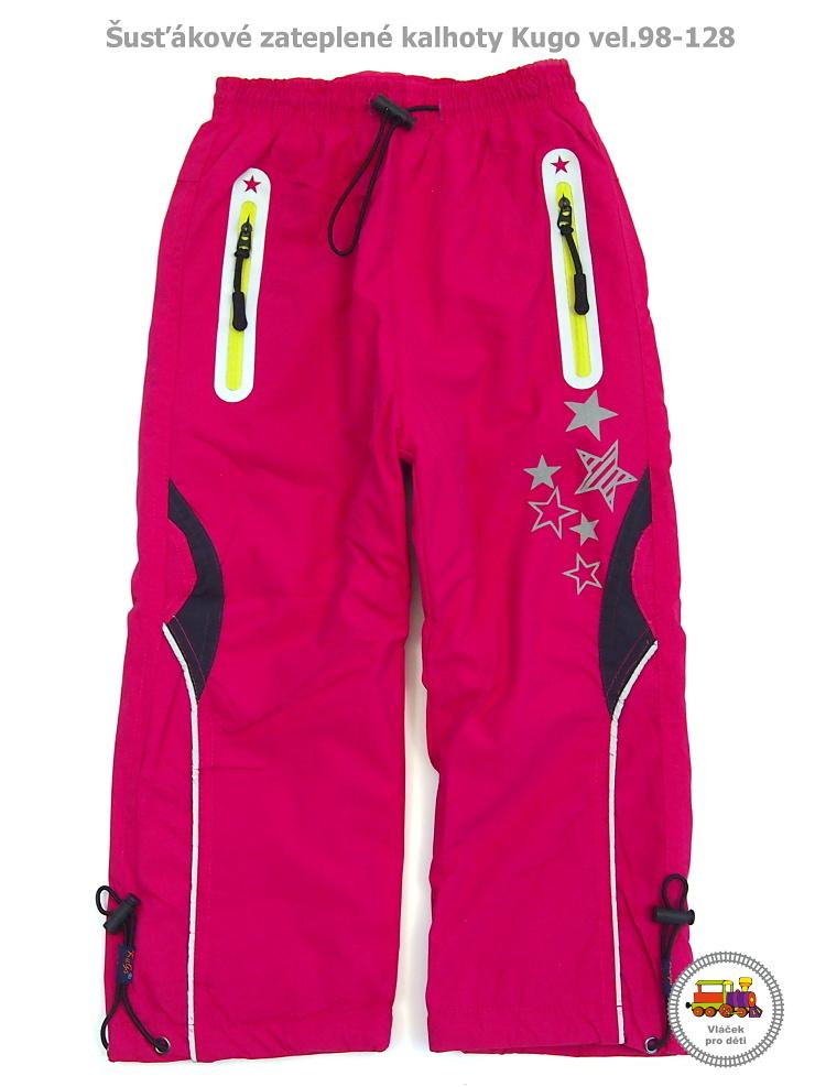 5320d345ea0 Kalhoty šusťákové zateplené dívčí Kugo H-207 růžové vel.