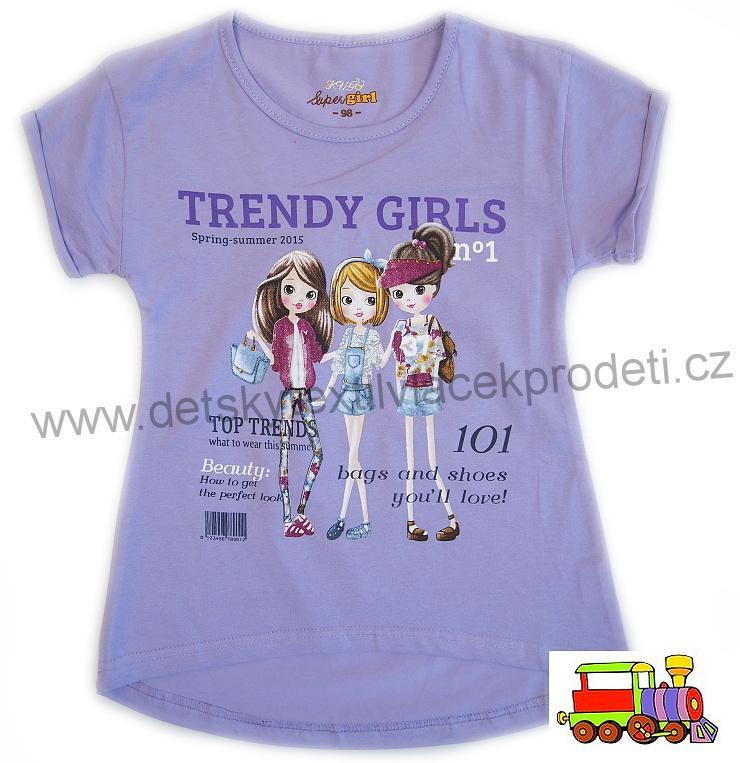 556f3d32a99b Dívčí tričko Kugo Ňuňuk T-1002 fialové světlejší vel.116