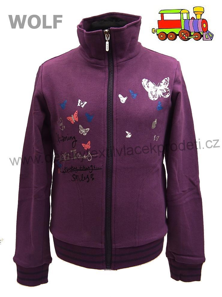 Dívčí mikina Wolf M2645 fialová vel.158  7ea0c637aa