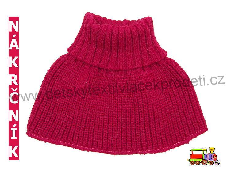 Dětský pletený nákrčník dívčí - bordó  88d1a53c39