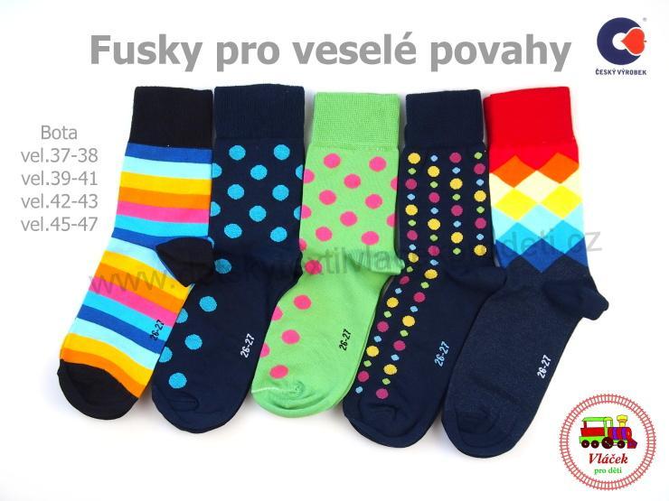 NOVINKA-ponožky bavlněné Petr veselé barvy vel.boty 37-47  144281315c