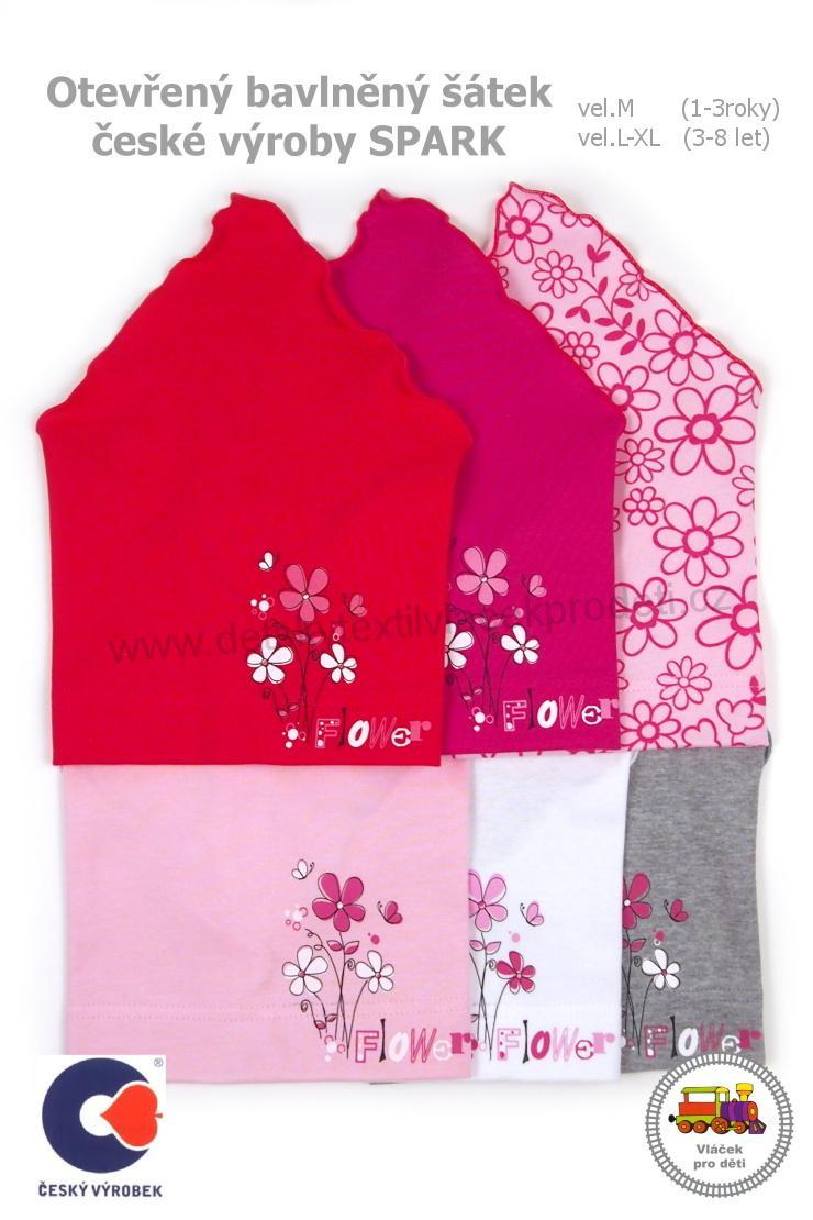 Dívčí bavlněný letní šátek Spark otevřený vel.M (1-3roky) - L (3-8let) bafc41f036