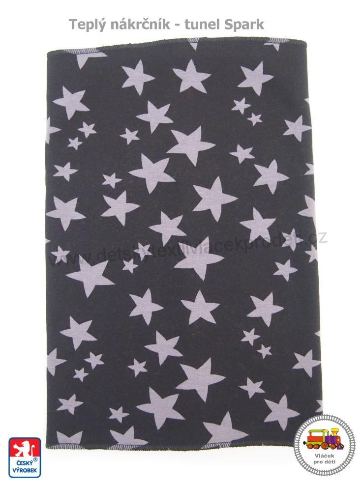 Dětský nákrčník zimní s kožíškem Spark  480  Hvězdička černý vel.XL (3-Xlet) 139044c73c