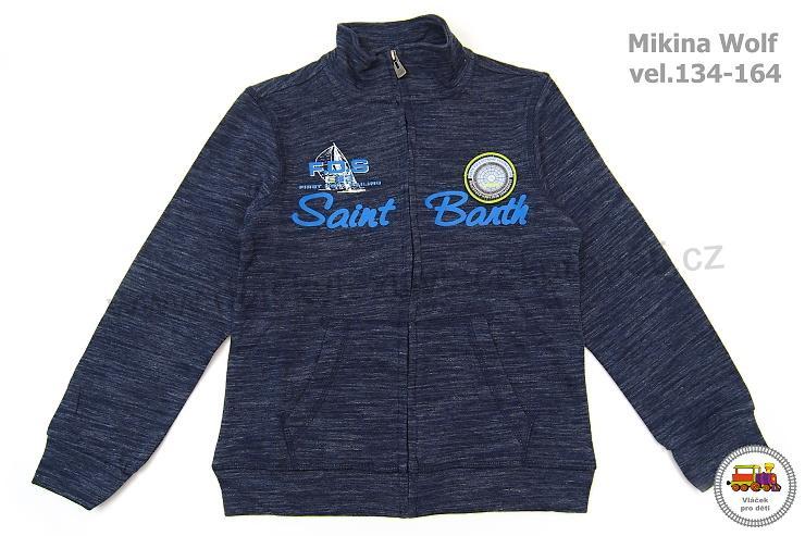 7e3305620bf Chlapecká mikina Wolf M2746 modrá vel.164