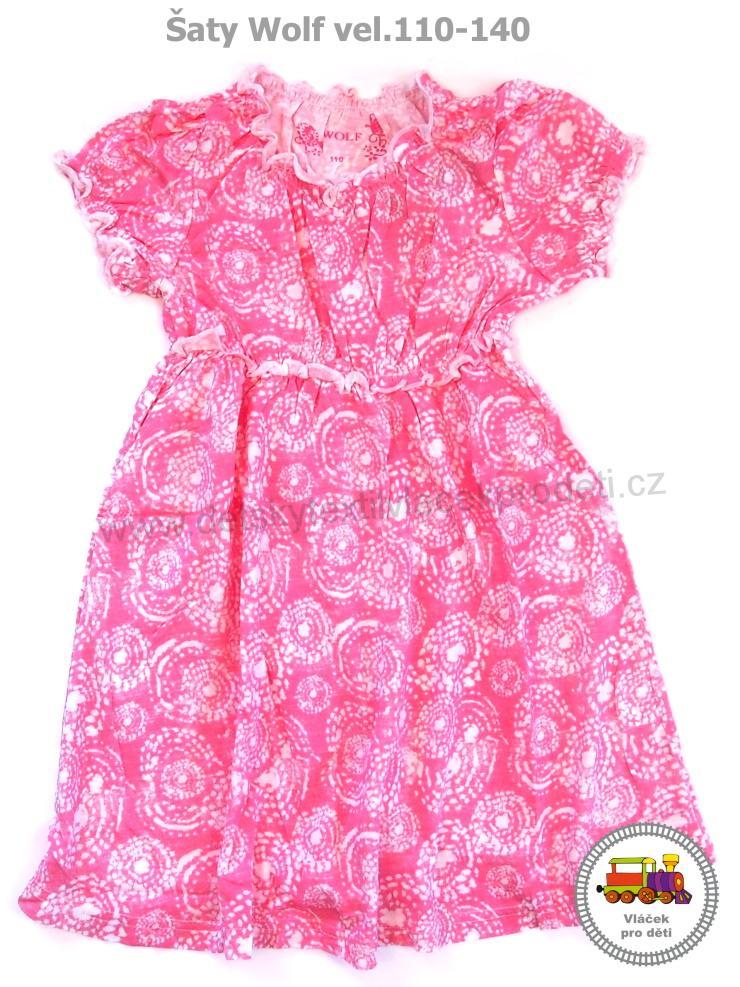 SLEVA - dívčí šaty Wolf S2715 růžové vel.140  70f50f2c88