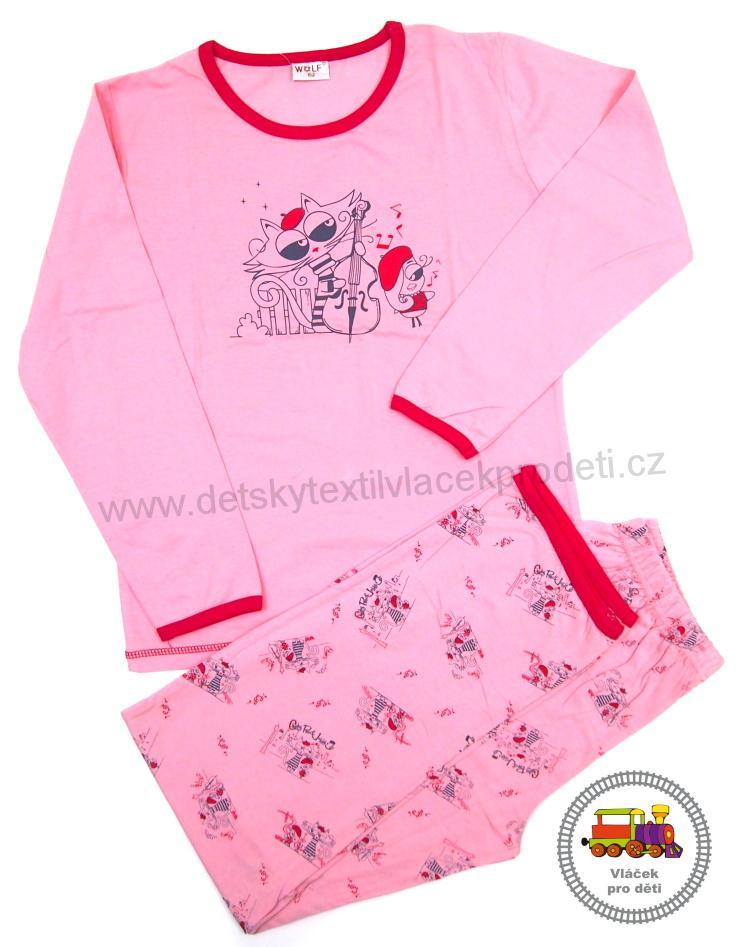 Dívčí pyžamo Wolf S2354 růžové vel.152  3f28adc503