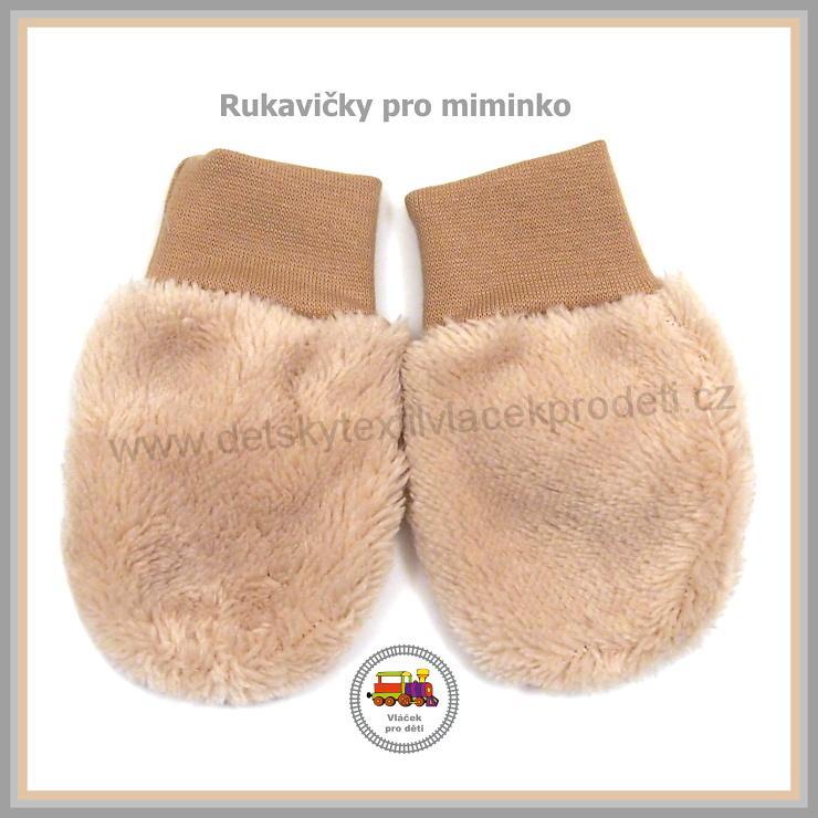 0493ad8770a Kojenecké rukavice chlupaté lama (1004) béžové - jedna vrstva ...