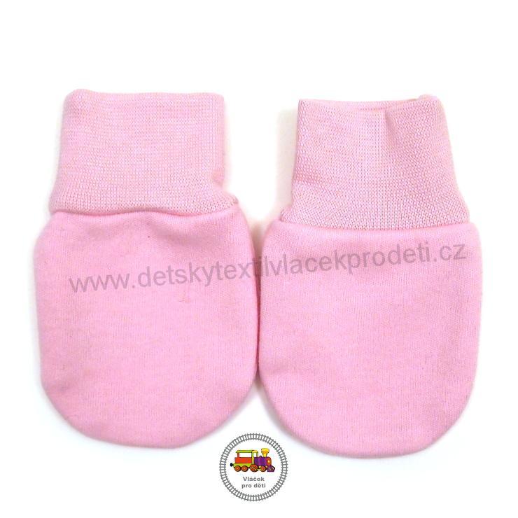 14e96611813 Kojenecké rukavice bavlněné dvojité  793  světle růžové č.0
