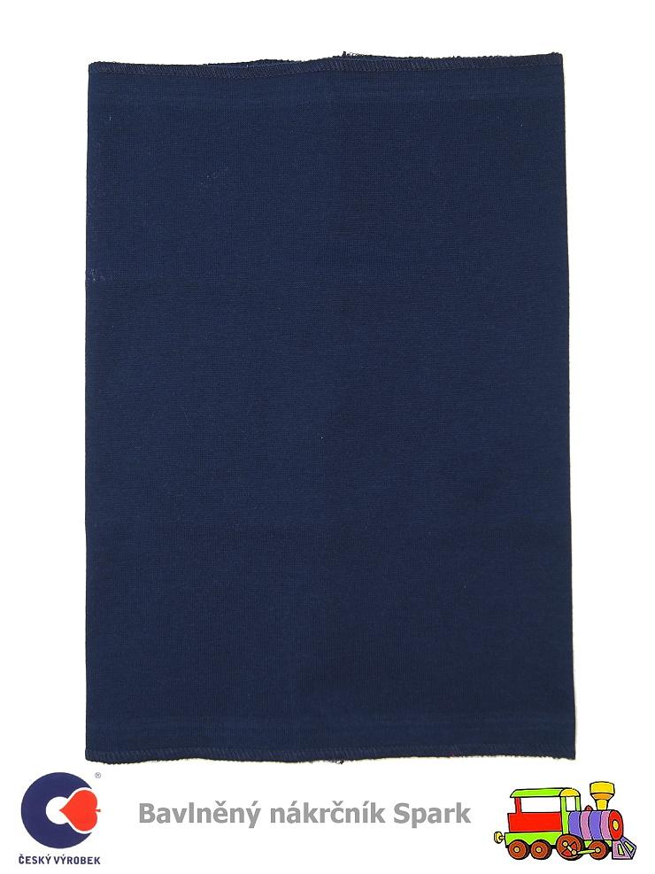 Dětský nákrčník bavlněný Spark  496  tmavě modrý - vel. ba054628e5