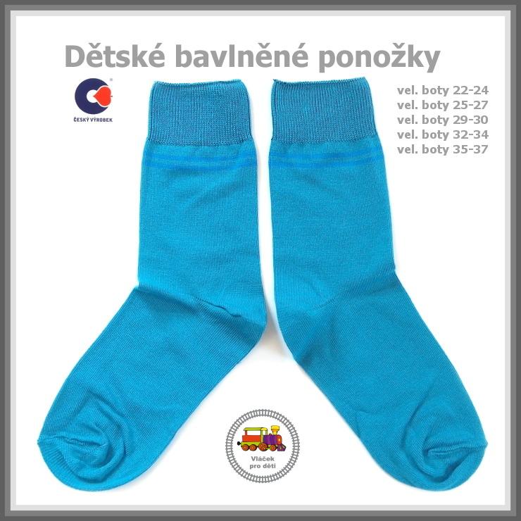 Dětské ponožky bavlněné petrolejové  16  Petr vel.22-24 empty 901cfecff1