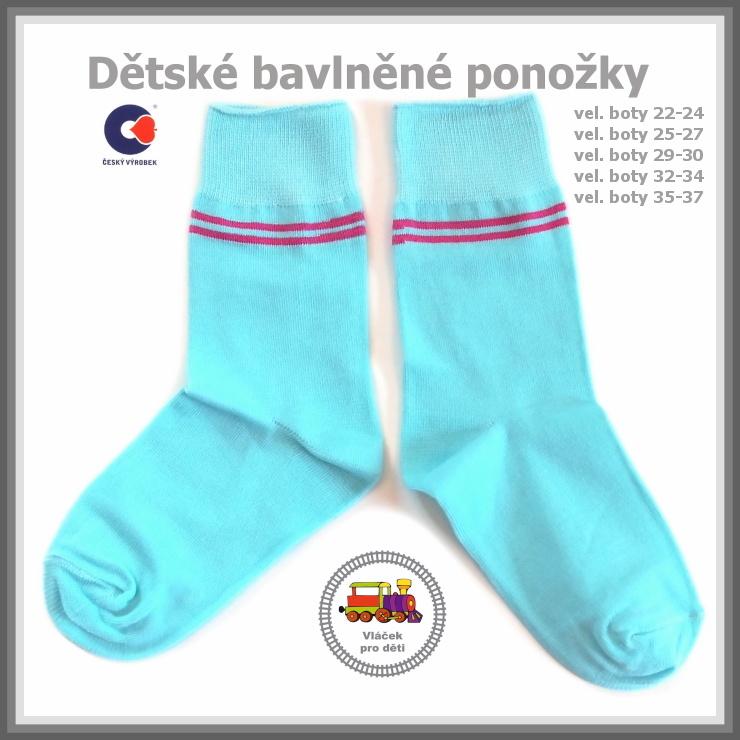 Dětské ponožky bavlněné světlý tyrkys  5  Petr vel.25-27 empty 6980e9812f