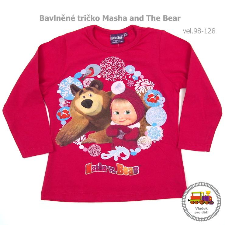 Dívčí tričko Masha and the Bear 961-877 tmavě růžové vel.128 empty a3a36a0d65
