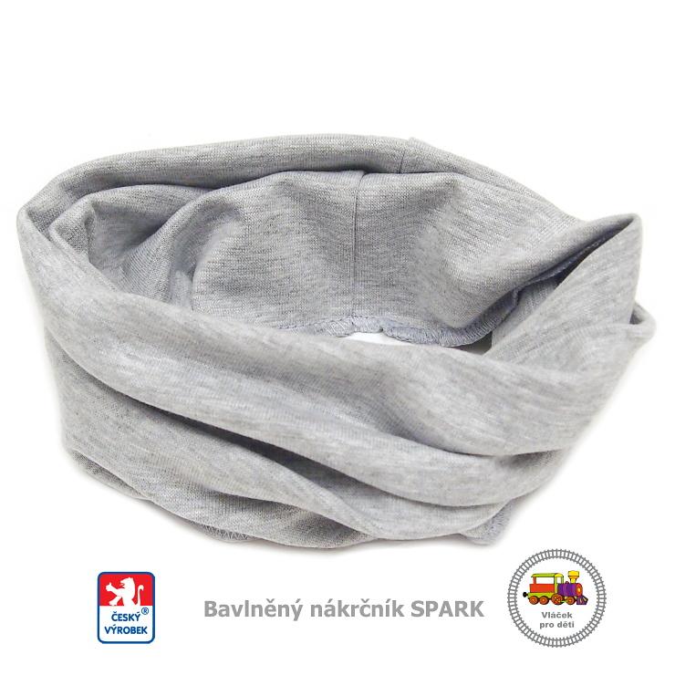 Dětský nákrčník bavlněný Spark  468  světle šedý - vel. d21a238490