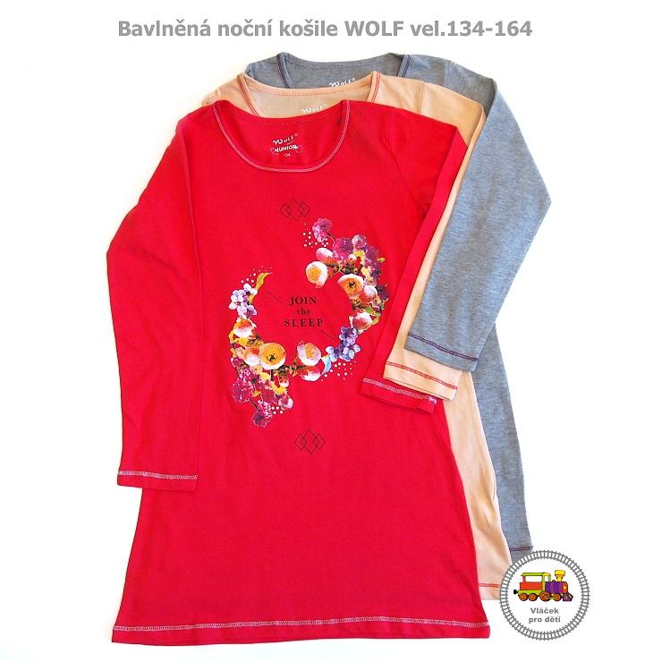 5330c05bf06 NOVINKA-noční košile Wolf S2659 s dlouhým rukávem vel .134