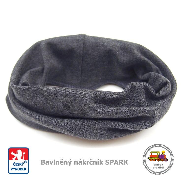 Dětský nákrčník bavlněný Spark  448  tmavě šedý - vel. de0851a392