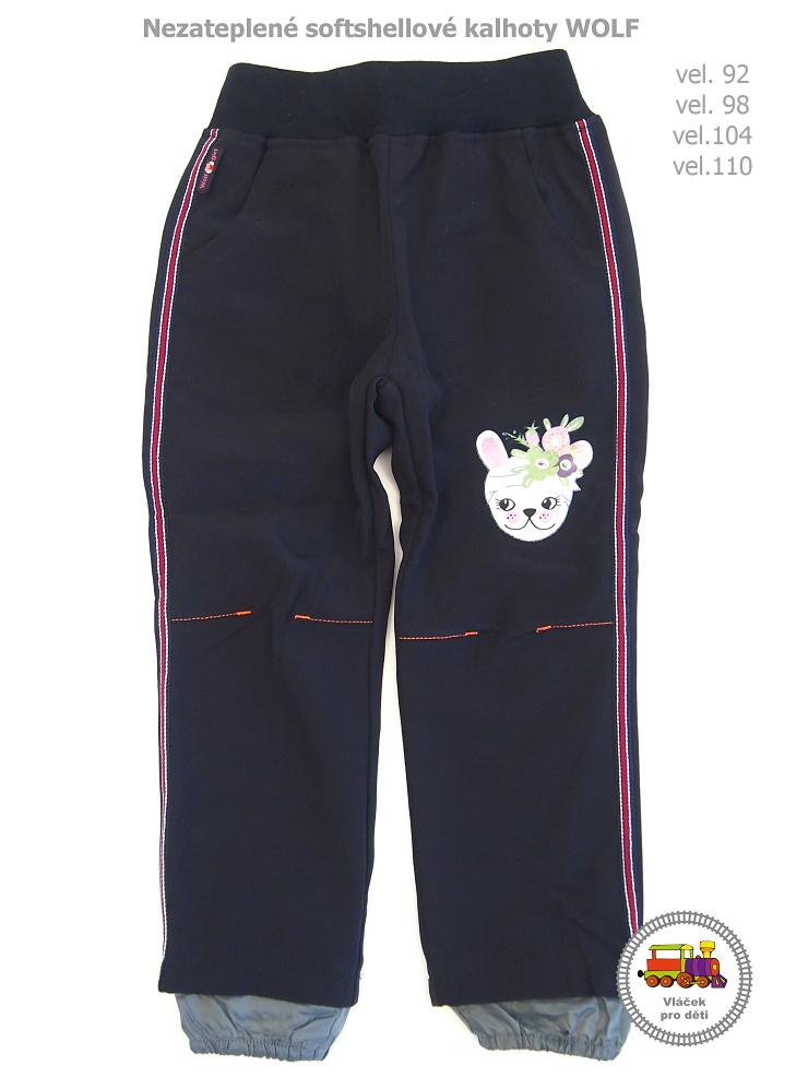 Softshellové kalhoty nezateplené dívčí Wolf B2981 černé vel.110 empty 0e20cde297