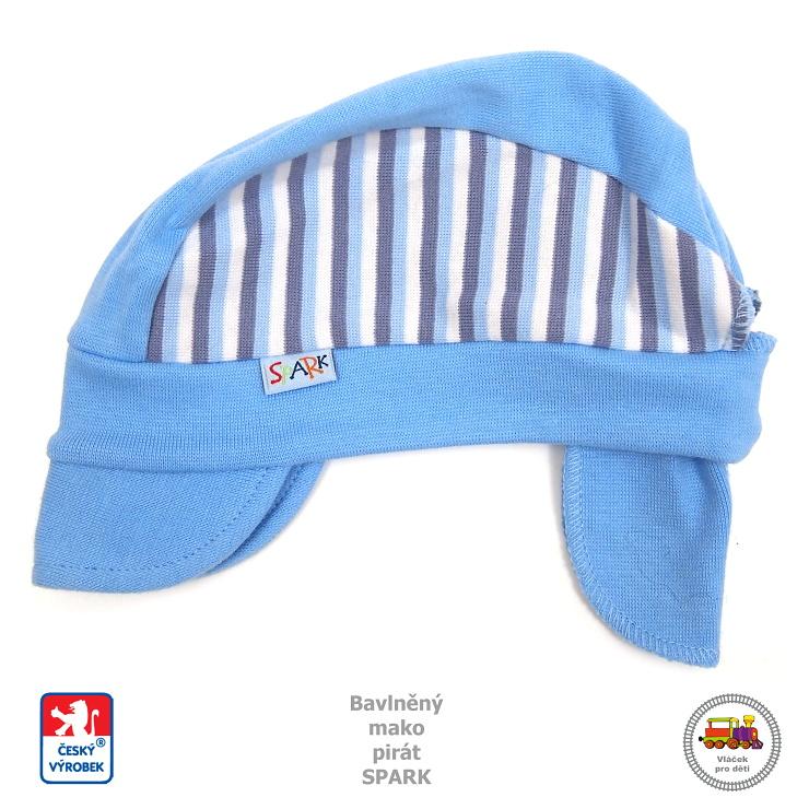 Dětský pirát bavlněný s kšiltem Spark  440  světle modrý s proužkem vel. 4964f7c58f