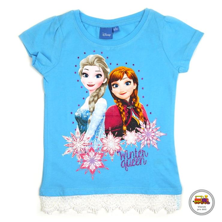 3ede814f937a Dívčí tričko Frozen-Ledové království-Elsa GTJM92047 modré vel.122 empty