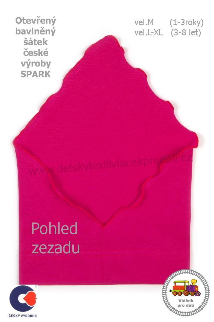 Dívčí bavlněný letní šátek Spark otevřený vel.M (1-3roky) - L (3 ... f6186743f6